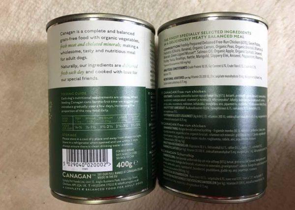 カナガン缶の表示